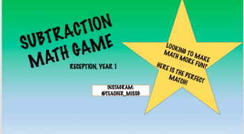 Subtraction Instructional Math Game