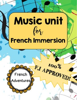 Music Unit for French Immersion