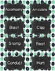 Music Verb Word Wall {Navy & Mint Dot Chalkboard Theme}