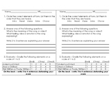 Music Video/Listening Response Worksheet