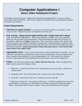 Music Video - Powerpoint Project