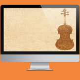 Music: Violin PowerPoint Presentation *Freebie*