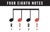 MUSIC VISUALS Rhythm Card - 4 Eighth Notes