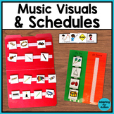 Music Visual Supports and Schedules - Special Education and Autism Resource