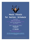 Music Visuals for Autism: Visual Schedule