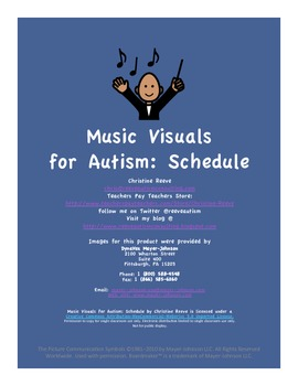 Music Visuals for Autism: Visual Schedule