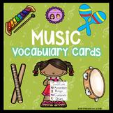 Music Vocabulary Cards