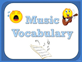 Music Vocabulary Cards - Blue