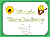 Music Vocabulary Cards - Green