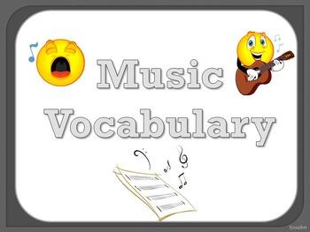Music Vocabulary Cards - Grey