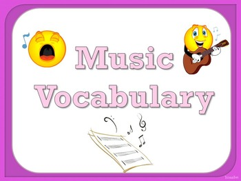 Music Vocabulary Cards - Pink
