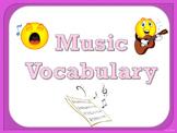 Music Vocabulary Cards - Pink