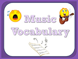 Music Vocabulary Cards - Purple