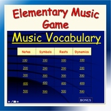 Music Vocabulary Powerpoint Game