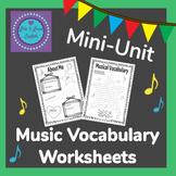 Music Vocabulary Mini-Unit For ESL