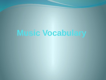 Music Vocabulary Powerpoint with video samples