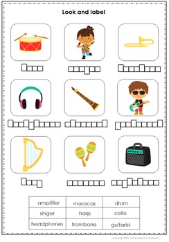 Music Vocabulary Spelling Set