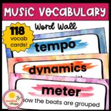 Music Vocabulary Word Wall