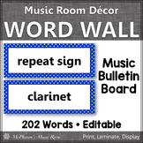 Music Word Wall {Music Room Décor} blue