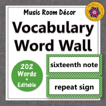 Music Word Wall {green}