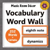 Music Word Wall {Music Room Décor} orange