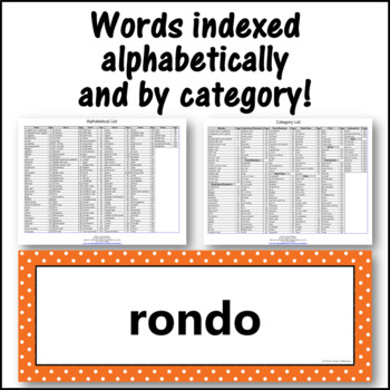 Music Word Wall {Music Room Décor} orange