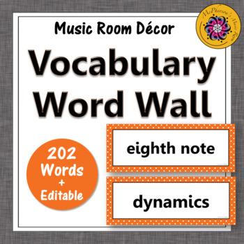 Music Word Wall {orange}