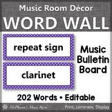 Music Word Wall {Music Room Décor} purple