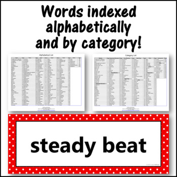Music Word Wall {Music Room Décor} red