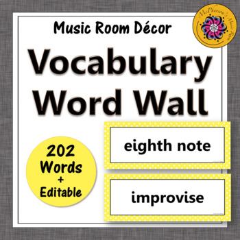 Music Word Wall {yellow}