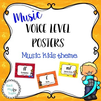 Music Voice Level Posters -Dynamics - Music Kids Theme