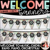 Music Welcome Banner for Piano, Choir, Band, Music, Orches