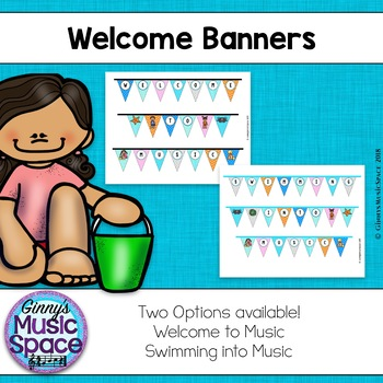 Music Welcome Banners {Ocean Themed}