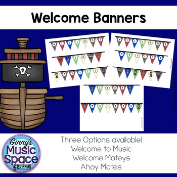 Music Welcome Banners {Pirate Themed}