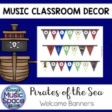 Music Welcome Banners Pirate Theme