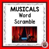 Music Game: Well-known MUSICALS Word Scramble