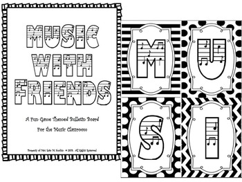Music W/ Friends Bulletin Board Kit (PDF) Elementary Music Room
