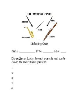 Music: Woodwind Listening Quiz