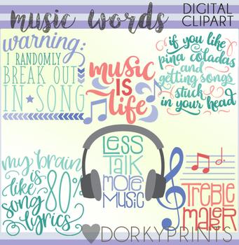 Music Word Art Clip Art