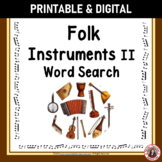 Music Word Search: Folk Instruments II: World Instruments