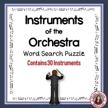 Music Word Search: Instruments of the Orchestra Word Search