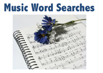 Music Word Searches (4 word searches)