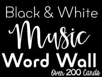 Music Word Wall {Black & White}