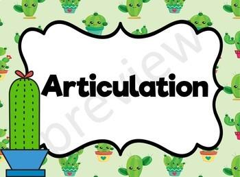 Music Word Wall (Cactus) - Editable!