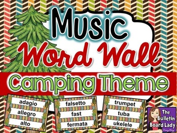 Music Word Wall - Camping Theme