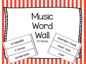 Music Word Wall Color