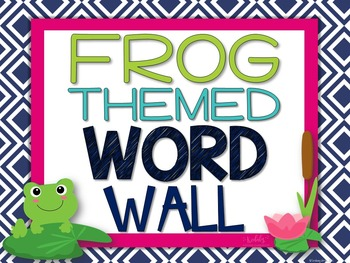 Music Word Wall {Frog Theme}