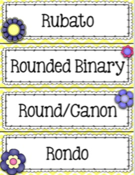 Music Word Wall {Garden of Music} {Editable}
