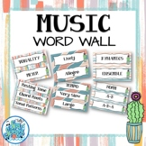 Music Word Wall - Ginger & Waves