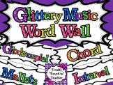 Music Word Wall - Ink Saver - Glittery Music Mega Set